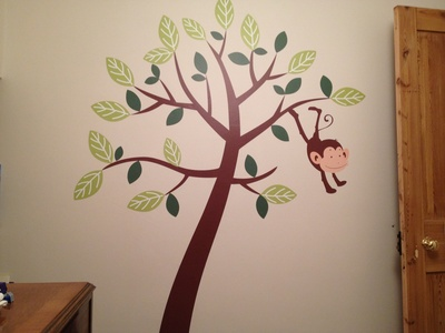 Monkey, wall sticker, decal, nursery
