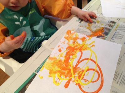 Paint, toddler, messy play