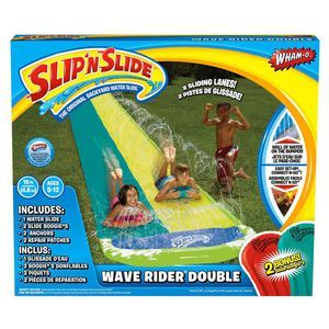 Slip n slide, summer fun, water fun