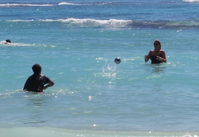 Wahu ball, soccer ball, beach fun