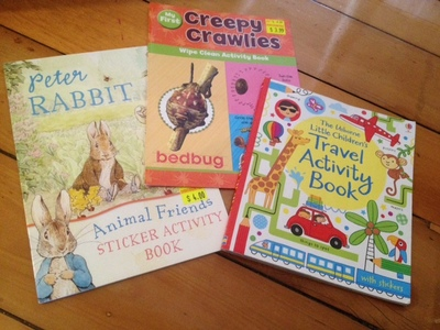 activity books, what to bring on plane journey, kids activity books, how to keep kids busy on long journey