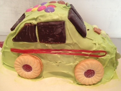 Car cake, easy, birthday, party