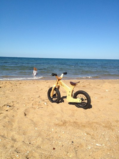 early rider beach, balance bike on beach, cool bike, best balance bike, preschooler balance bike, toddler balance bike, balance bike review