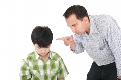 Father Scolding Child