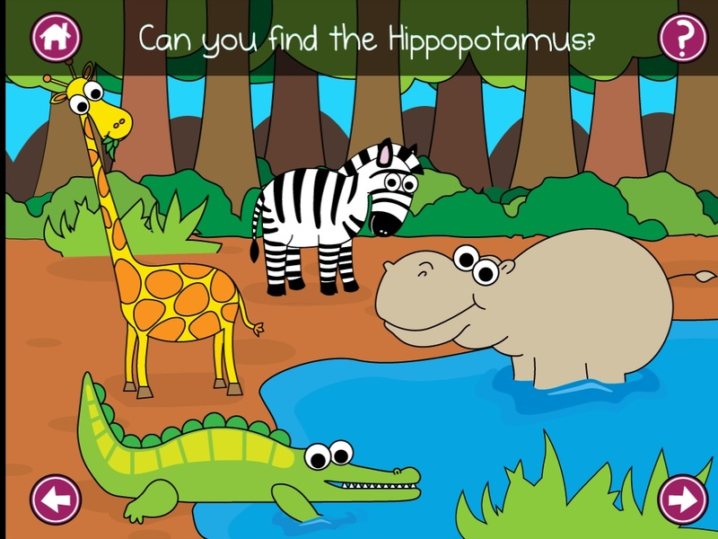 find the animal, Jungle animals, spot the jungle animal, ipad app review babies toddlers