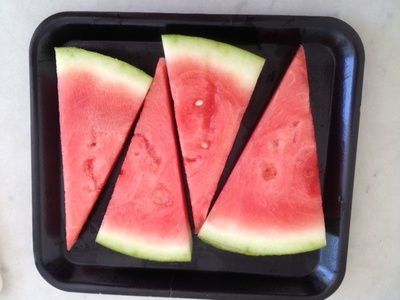 freezing watermelon, watermelon wedges ready to freeze, natural teether, watermelon toddler teething, how to freeze watermelon