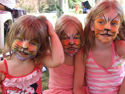 girls, face paint, nicknames