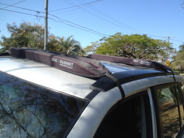 roof pads for canoe, removable car pads for canoe, no roof rack canoe, strap on roof pads, strap on roof rack  - Canoeing With Kids