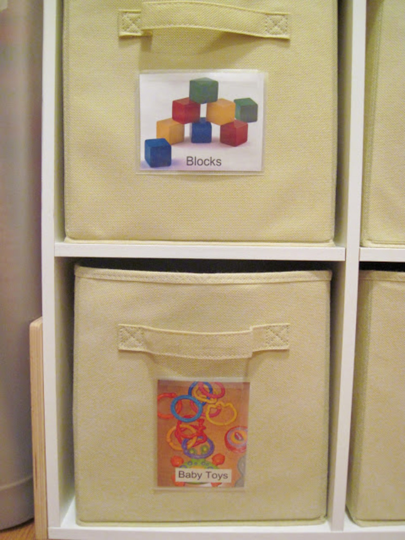 Toy Baskets with Picture Labels